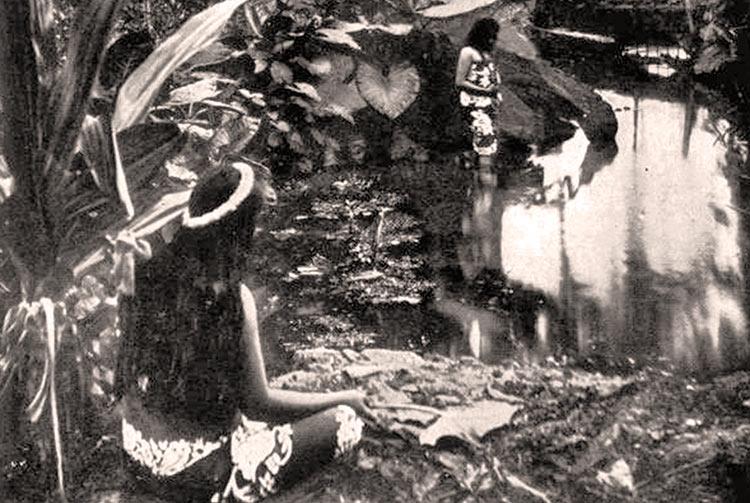 Le bassin de la reine de Papeete vers 1910. Photo Lucien Gauthier