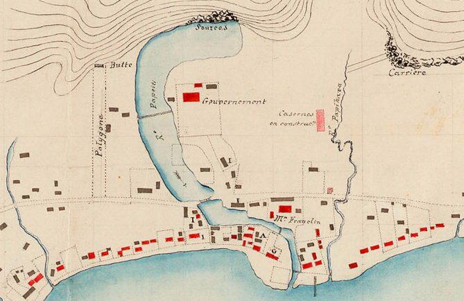 Plan de Papeete de 1844