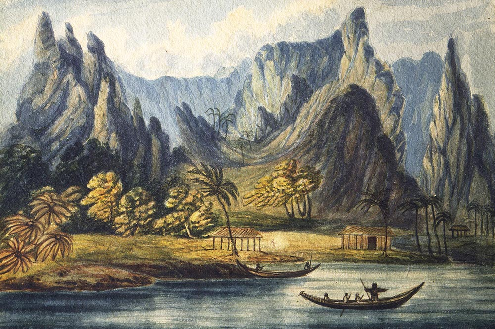 Opoa, Island of Raiatea, 1822 par Daniel Tyerman
