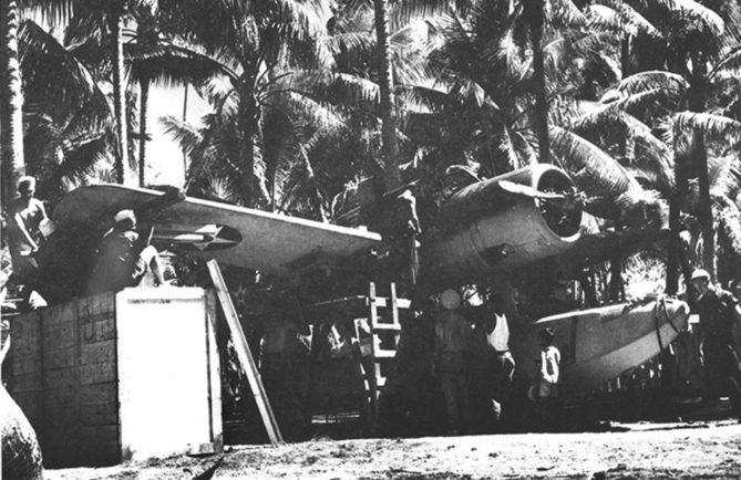 Avion à Bora Bora en 1941