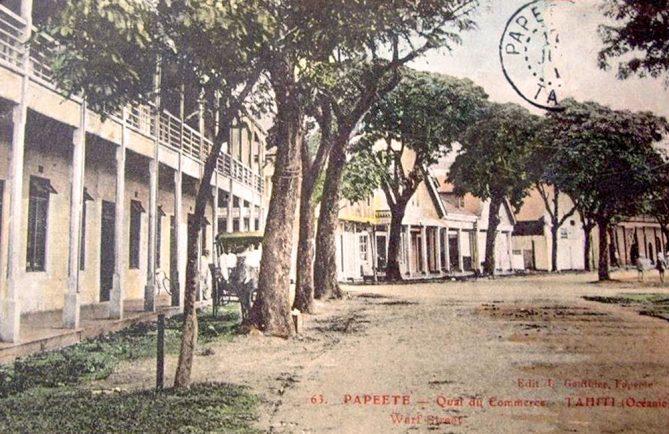 Le quai du Commerce à Papeete vers 1920. Photo Lucien Gauthier