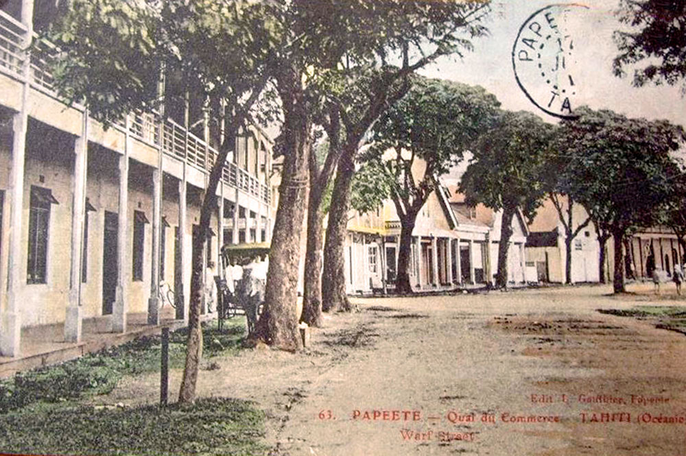 Le quai du Commerce à Papeete vers 1920. Photo Lucien Gauthier
