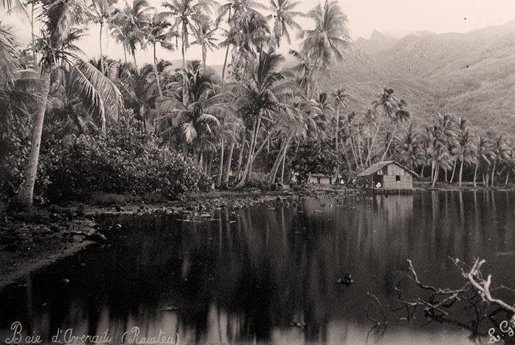 Baie d'Averaiti, Raiatea vers 1910. Photo Lucien Gauthier