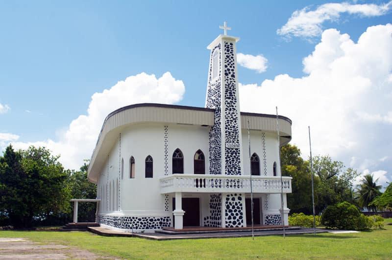 Temple protestant de Tevaiota, Tumaraa, Raiatea