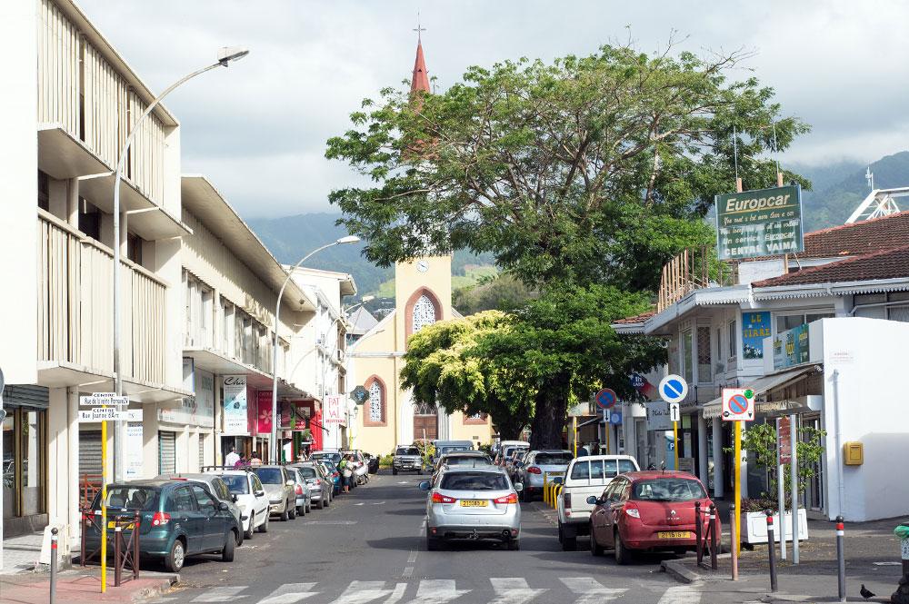 La rue Jeanne d'arc à Papeete en 2016
