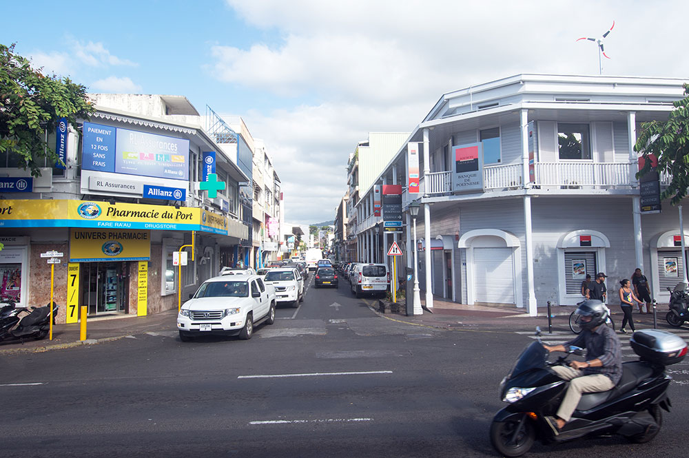 La rue Paul Gauguin à Papeete en 2015.