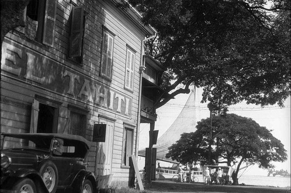 L'Hôtel Tahiti au coin de la rue Jeanne d'Arc, en 1932. Photo Roger Parry