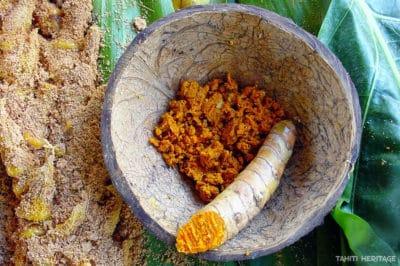 Curcuma longa, Rea Tahiti, Tumeric © Tahiti Heritage