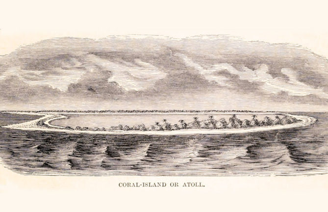 Coral island or Atoll