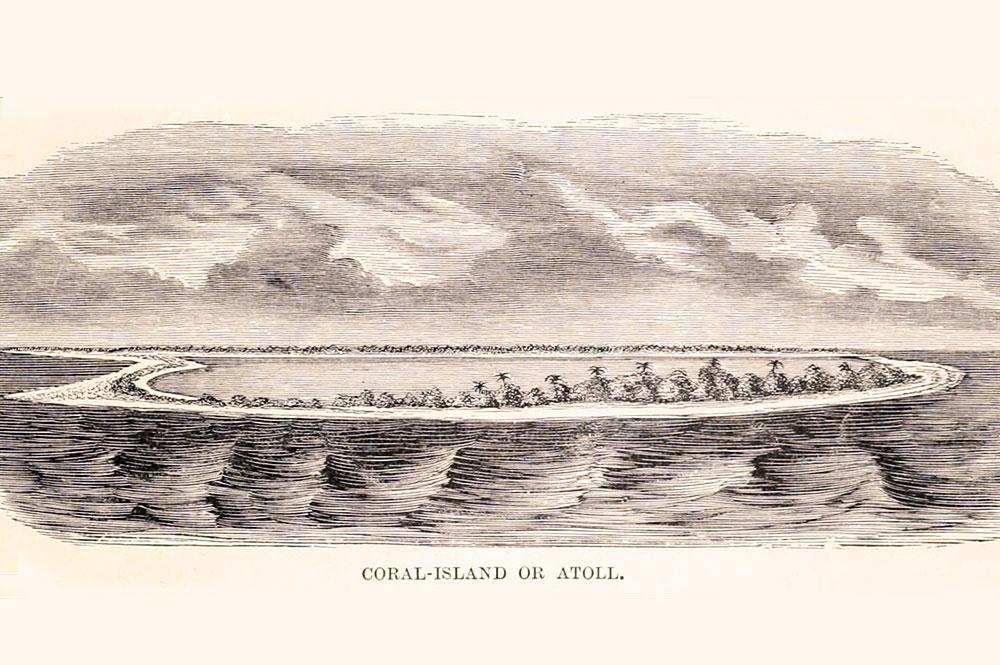 Coral island or Atoll