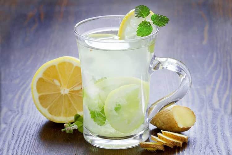 Infusion froide de gingembre et citron