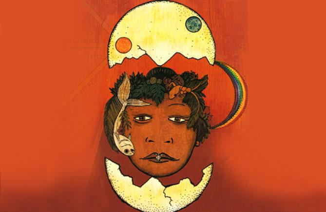 Illustration de Taaroa par Bobby Holcomb. Coll. Maison de la Culture de Tahiti