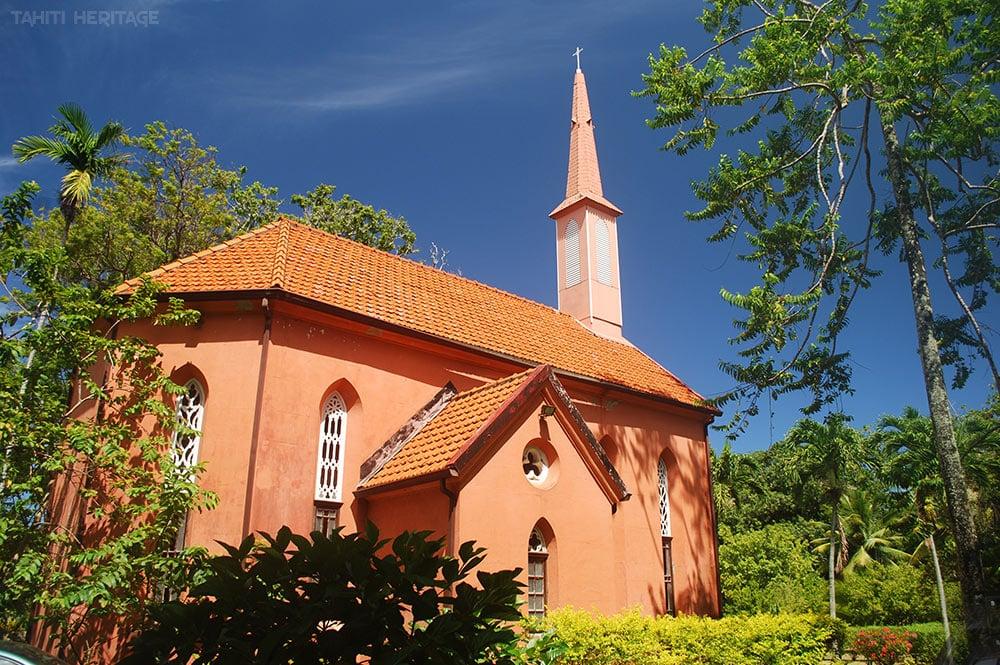 Chapelle du Sacré-Coeur, Evêché de Papeete, Tahiti. © Tahiti Heritage