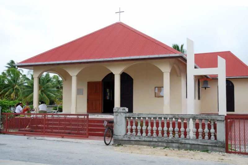 Eglise de Tureia en 2017. Photo Tahiti Infos / Melanie Thomas