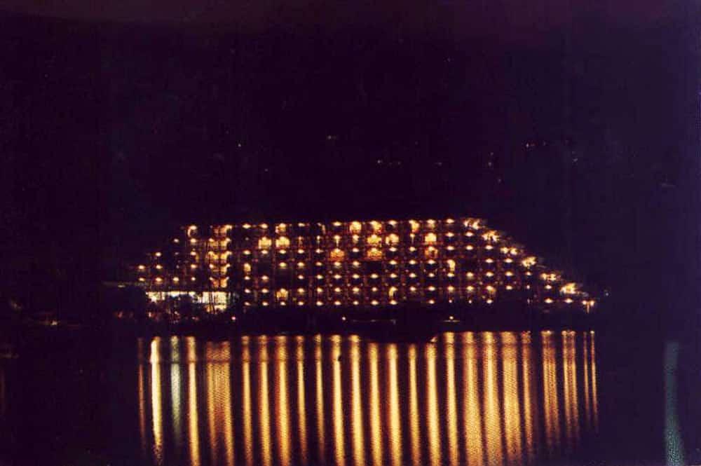 Hôtel Maeva beach de nuit