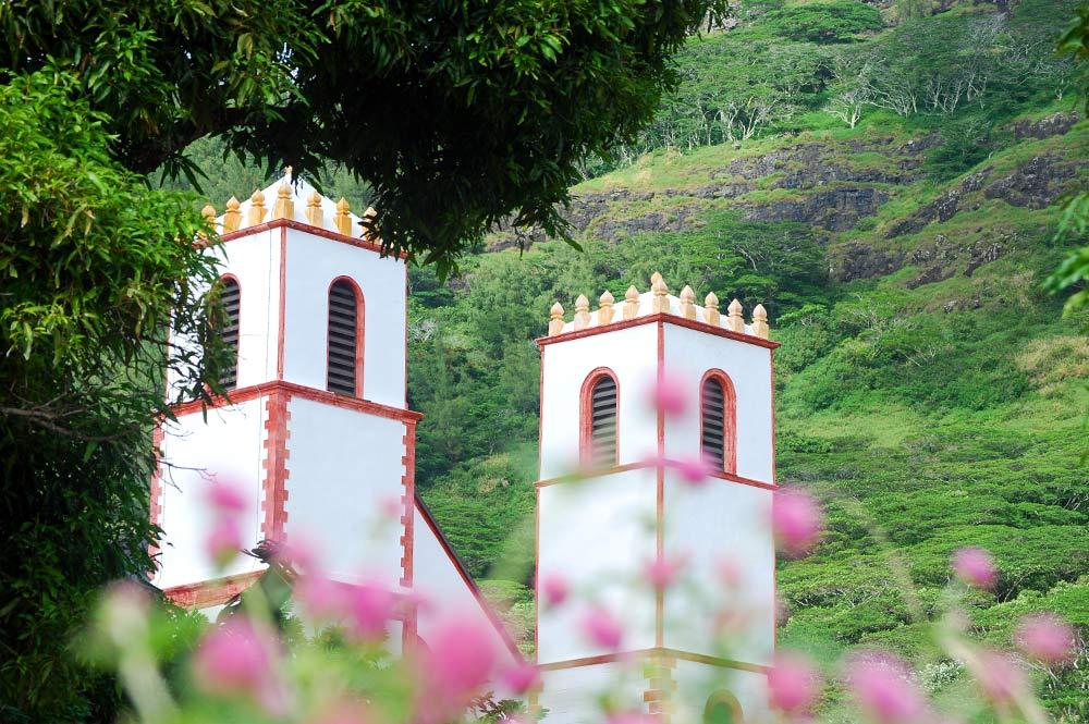 Tours de la Cathédrale de Rikitea © Tahiti Heritage