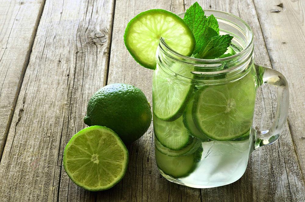 Mint détox, citron vert et menthe fraiche