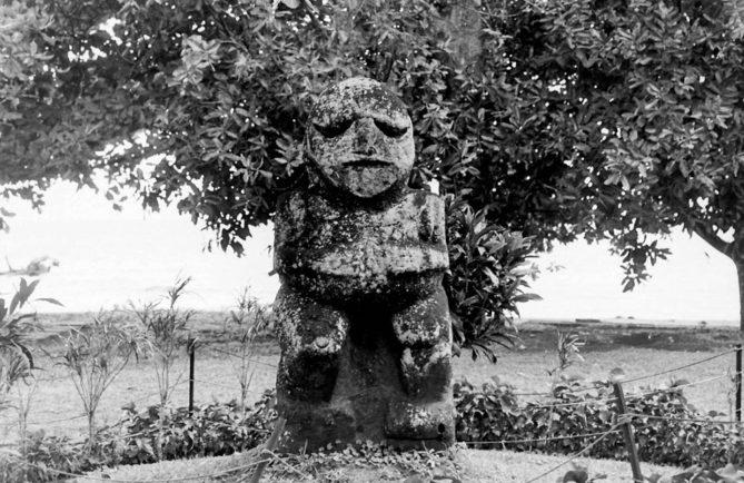 Tiki de Raivavae au Musée Gauguin de Papeari, Tahiti en 1970