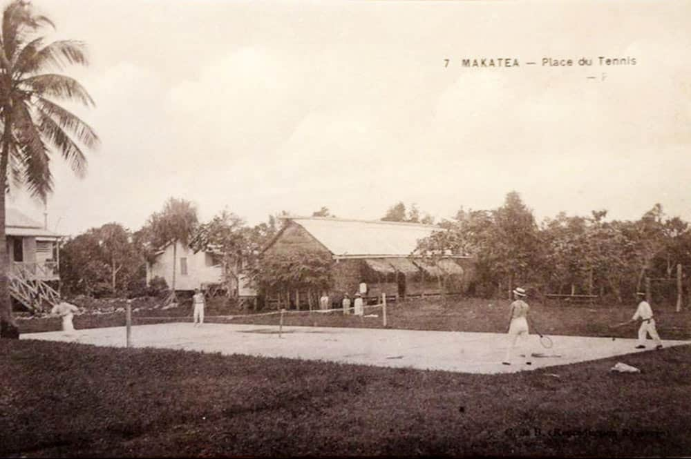 La place du tennis à Vaitepaua, Makatea