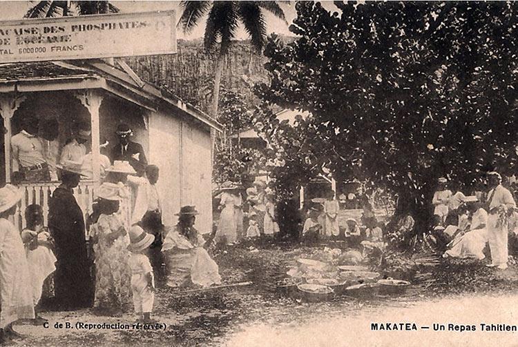 Un repas tahitien à Makatea - C de Balman
