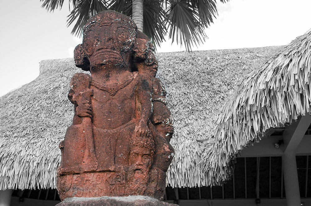 Tiki du centenaire, Mairie de Papeete