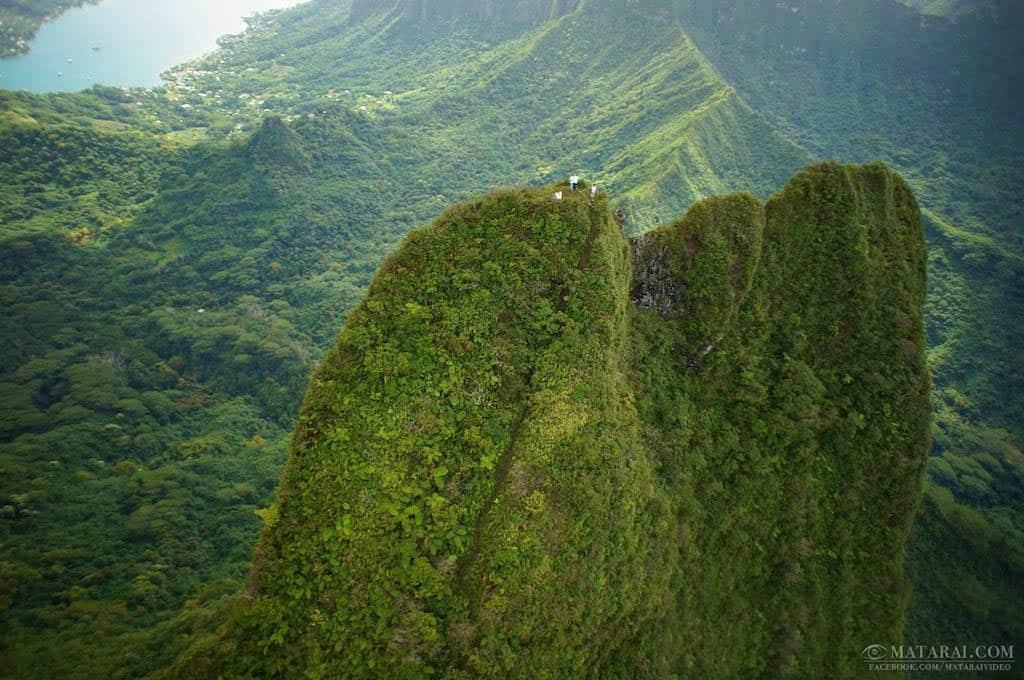 Mou'a Puta, la montagne perçée. Photo Matarai