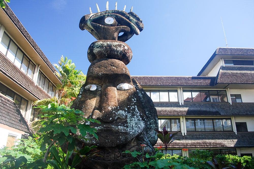 Moai de la mairie de Papeete