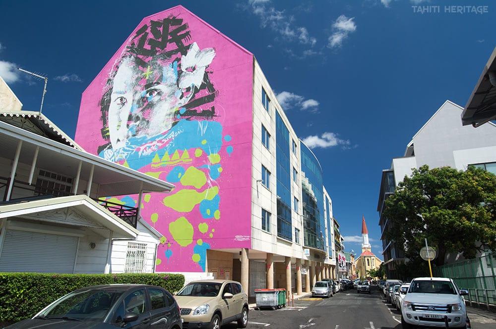 Street art Tahiti, l'autochtone et Herenui Photo Tahiti Heritage