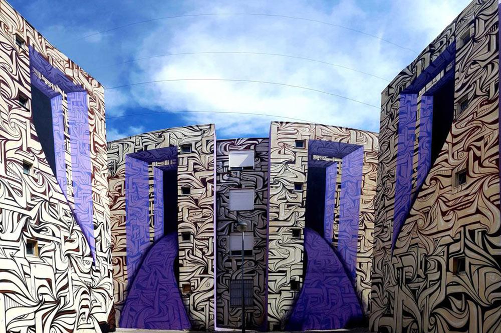 Street Art Astro Illusion