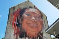 SStreet-art, Visage de Matt Adnate à Papeete