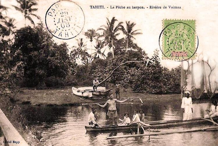 La pêche au harpon à l'embouchure de la Vaima