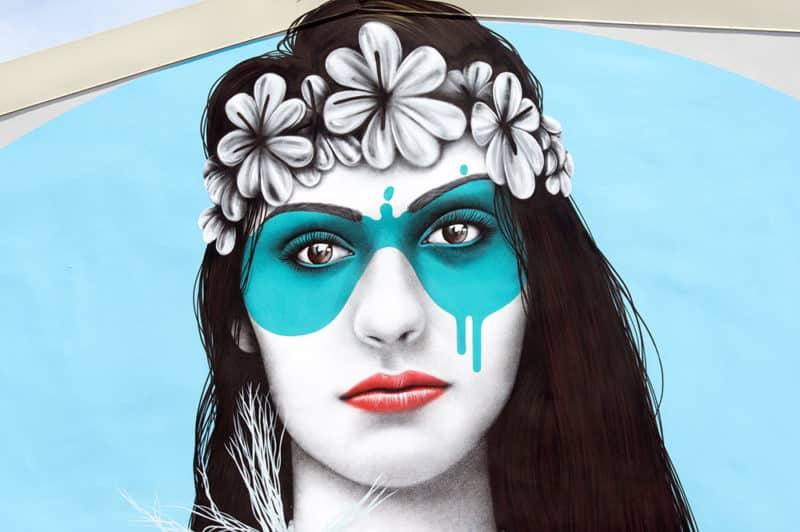 Street Art, Herehia par FinDac à Papeete Ono'u 2017