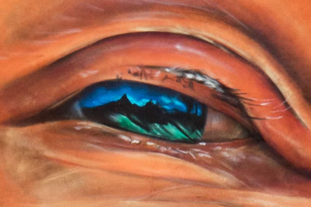 Détail de l'oeil d'Yee Vone par Adnate à Papeete