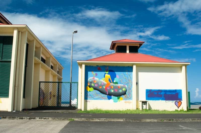 Street Art, Akimbo à Raiatea. Uno'u 2017