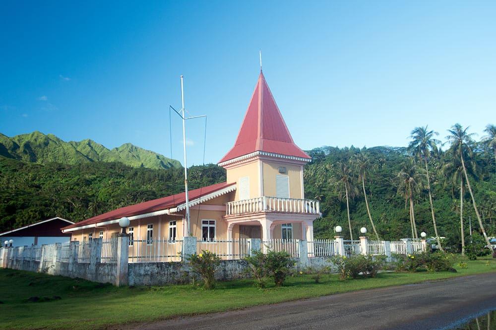 Temple protestant de Puohine, Raiatea
