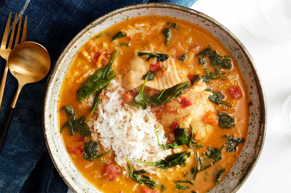 Curry de poisson au combava
