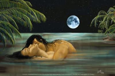 La naissance de Hiro à Tahaa. Illustration A'amu