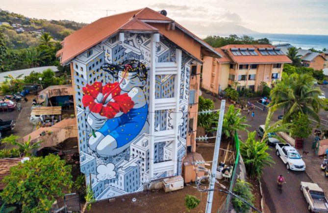 Street art vahine de Millo