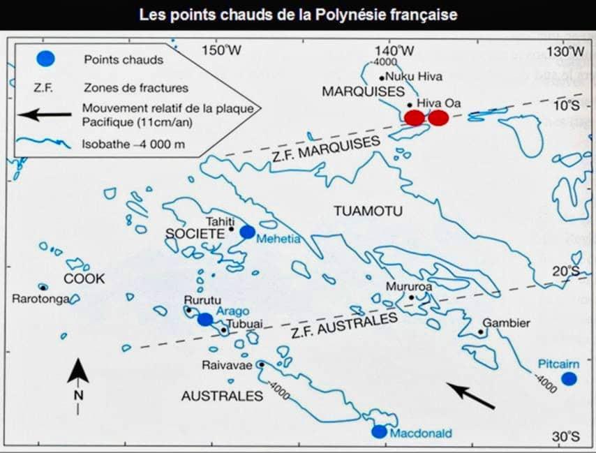 volcans sous-marins de polynésie francaise